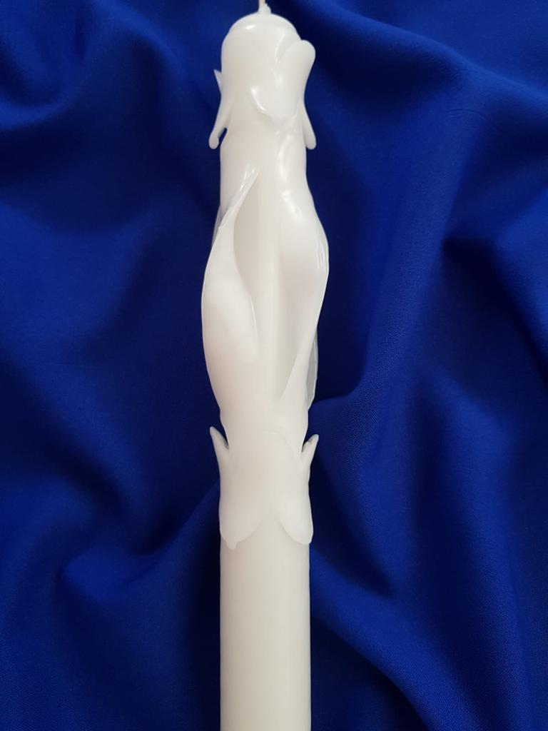 Lumânare Botez Sculptată M001